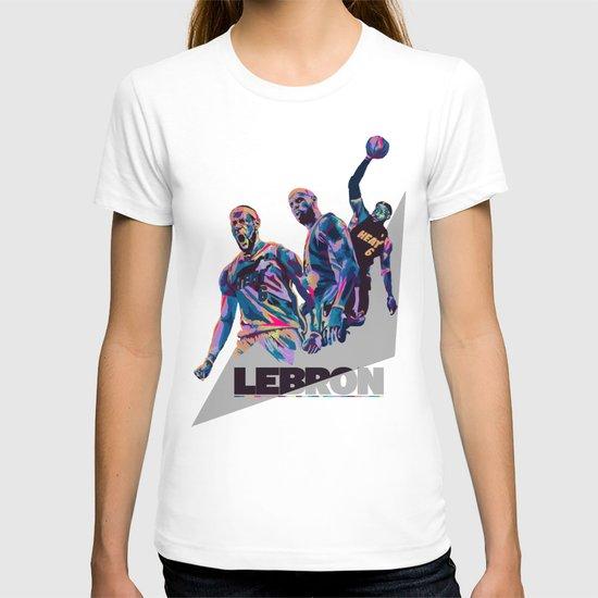 Lebron James NBA Illustration serie 3 of 3 T-shirt