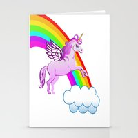 Unicorn And Rainbow Stationery Cards