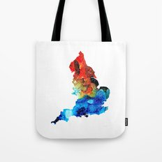 England - Map of England by Sharon Cummings Tote Bag