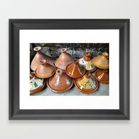 Tagine Scene Framed Art Print