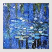 water lilies a la Monet Canvas Print