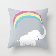 Elephant Painting! Throw Pillow