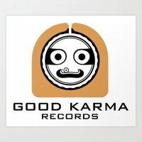 Good Karma Records Logo Art Print