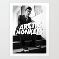 Arctic Monkeys Logo Alex… Art Print