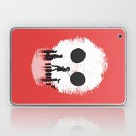 Laptop & iPad Skin featuring Bye Bye Apocalypse (red … by Budi Kwan