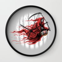 red reaper Wall Clock
