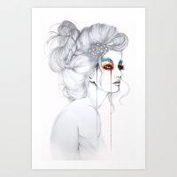 The Girl // Fashion Illu… Art Print