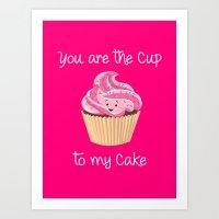 My cupcake - Pink version Art Print
