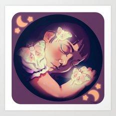 Le Luna Art Print