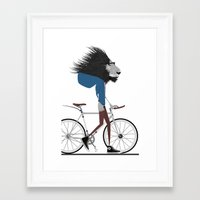 Hipster Lion And His Bic… Framed Art Print
