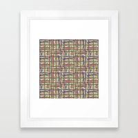 Midtown Plaid XL Framed Art Print