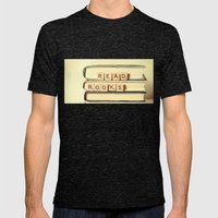 Read Books Mens Fitted Tee Tri-Black SMALL