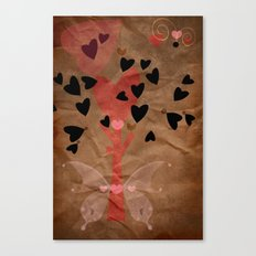 Little tree of love Canvas Print