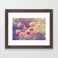 Retro Vintage Style - Fl… Framed Art Print