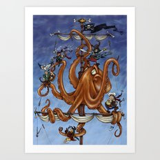 The Octo-Pirate! Art Print