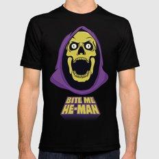 Skeletor - Bite me SMALL Mens Fitted Tee Black