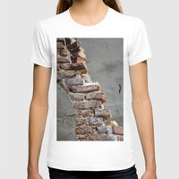 Bricks Womens Fitted Tee White SMALL