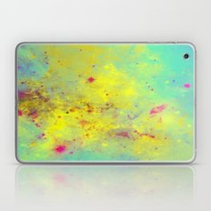 Pink Stars - Abstract space painting in yellow, blue and pink Laptop & iPad Skin