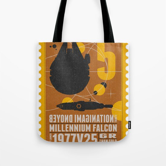 Beyond imagination: Millenium Falcon postage stamp  Tote Bag