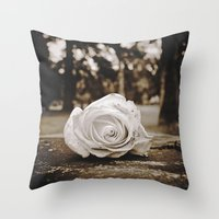 Symbolic Rose Throw Pillow
