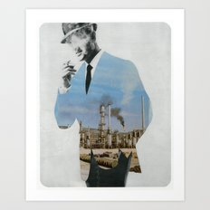 Mad men smokes Art Print