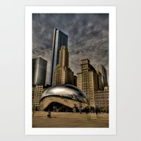 Buildings Rising From Behind Art Print