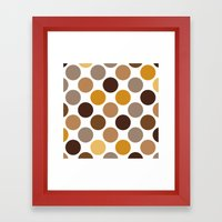 Big Loving Dots: Brown Framed Art Print