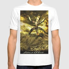 Aguadilla Ruins Mens Fitted Tee White SMALL