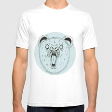 THE BEAR Mens Fitted Tee White SMALL