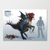 Pokemon-Druddigon Canvas Print