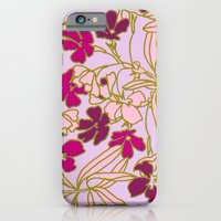 iPhone & iPod Case featuring Jungle Dusk in Orchid by Joan McLemore