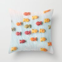 Plenty of Fish Throw Pillow
