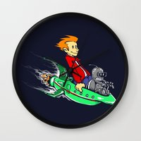 Bender and Fry Wall Clock
