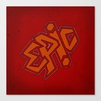 EPiC on red Canvas Print
