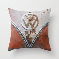 Rusty VW Throw Pillow