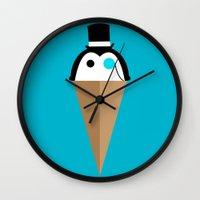 Peppermint Penguin Wall Clock