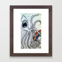Sharkpus Framed Art Print