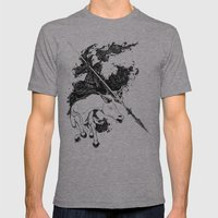 War Mens Fitted Tee Athletic Grey SMALL