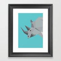Rhino - tessellated Framed Art Print