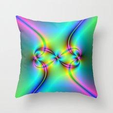 Neon Love Knots Throw Pillow