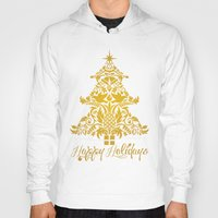 Ornate Pineapple Holiday Tree Hoody