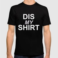 Dis My Clothing Line Mens Fitted Tee Black SMALL