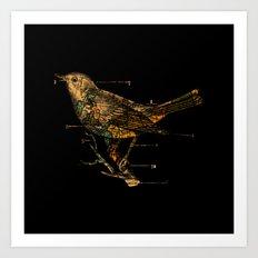 Migration - Vintage Map Wanderlust Bird Art Print