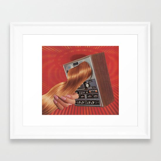 everything beautiful is far away - goofbutton collaboration #10 Framed Art Print