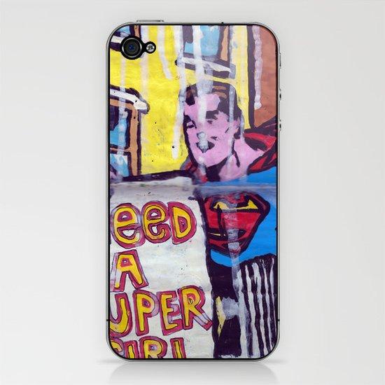 I Need a Supergirl iPhone & iPod Skin