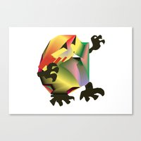 Mesh Monster Canvas Print