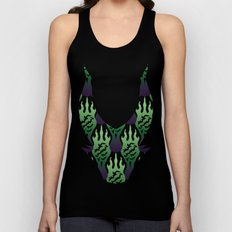SCORCH pattern ~ Maleficent  Unisex Tank Top