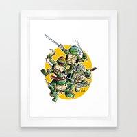 Tartaruguitas Framed Art Print