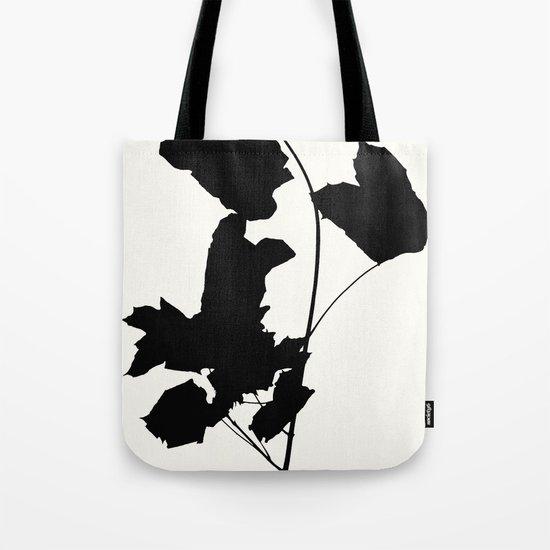 Maple Black Tote Bag