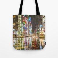 Rain In Japan Tote Bag